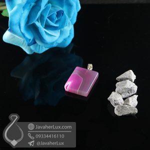 گردنبند سنگ عقیق سلیمانی _ کد : 400737