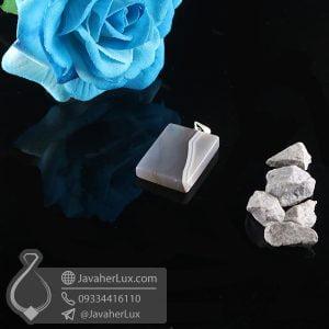 گردنبند سنگ عقیق سلیمانی _ کد : 400740