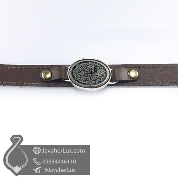 دستبند یشم حکاکی یا صاحب الزمان ادرکنی _ کد : 400768