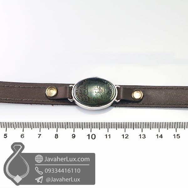 دستبند چرم حدید صینی حکاکی ناد علی _ کد : 400783
