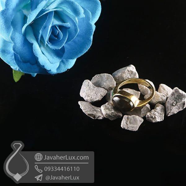 انگشتر نقره زنانه عقیق سیاه _ کد : 100754