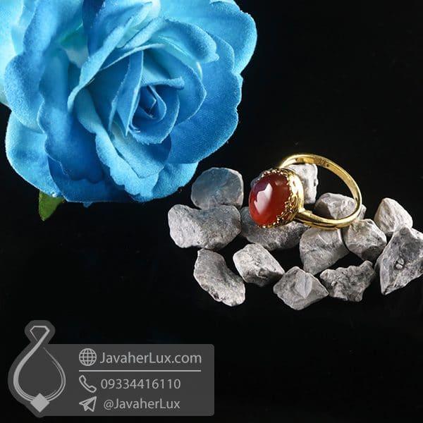 انگشتر نقره زنانه عقیق یمنی _ کد : 100755