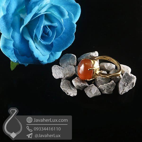 انگشتر نقره زنانه عقیق یمنی _ کد : 100756