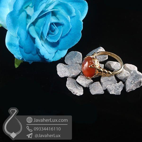 انگشتر نقره زنانه عقیق یمنی _ کد : 100757