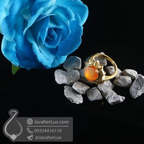 انگشتر نقره زنانه عقیق یمنی _ کد : 100761 | انگشتر زنانه | انگشتر نقره | انگشتر عقیق یمنی