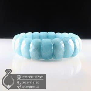 دستبند سنگ آکوامارین _ کد : 400793
