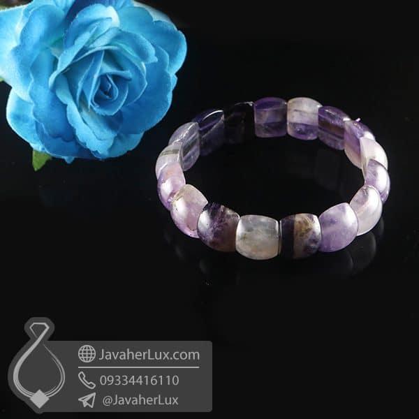 دستبند سنگ آمتیست _ کد : 400794