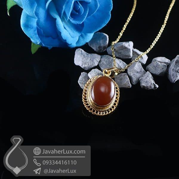 گردنبند نقره زنانه عقیق یمنی _ کد : 100762