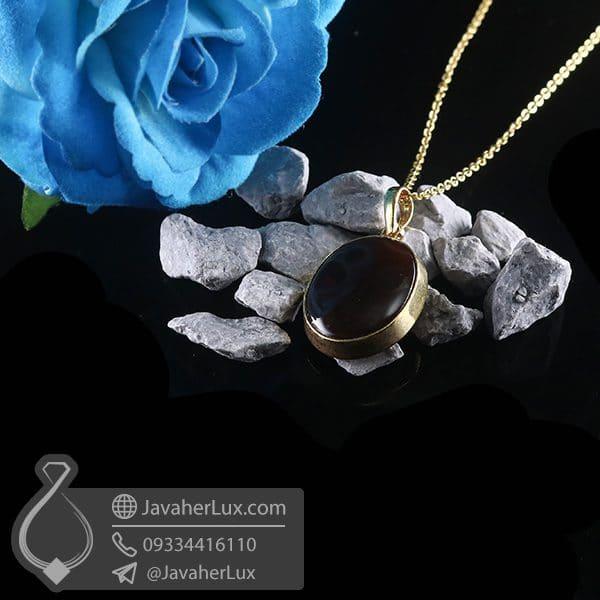گردنبند نقره زنانه عقیق یمنی _ کد : 100766