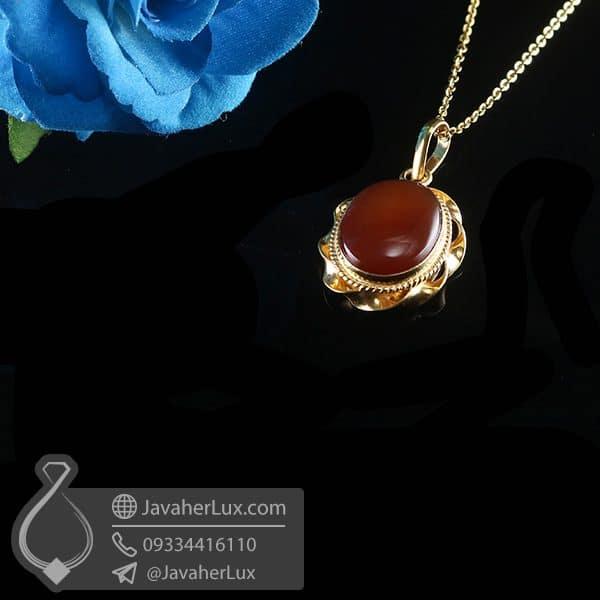 گردنبند نقره زنانه عقیق یمنی _ کد : 100770