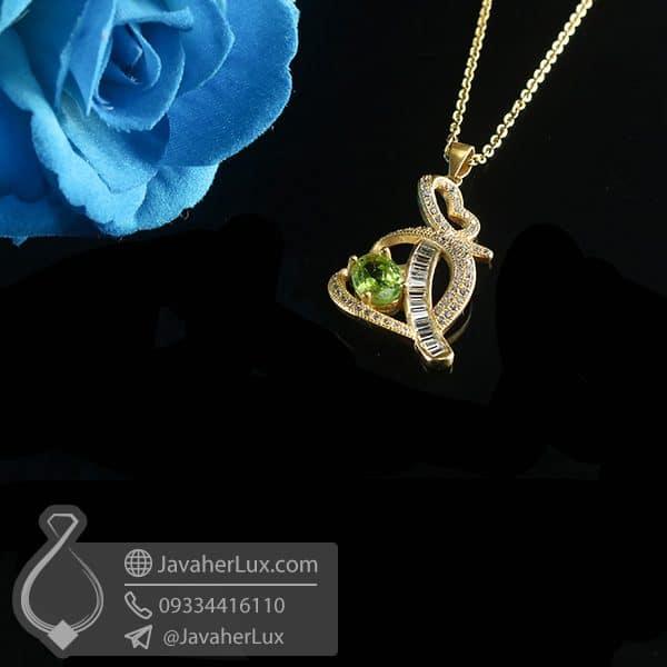 گردنبند نقره زنانه زبرجد _ کد : 100778