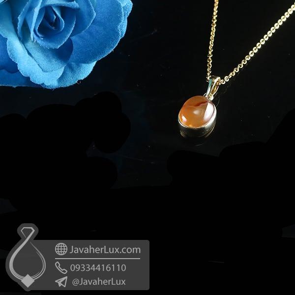 گردنبند نقره زنانه عقیق یمنی _ کد : 100780