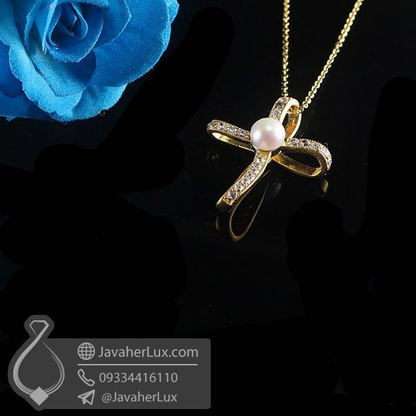 گردنبند نقره زنانه مروارید _ کد : 100782 | گردنبند زنانه | گردنبند نقره | گردنبند مروارید