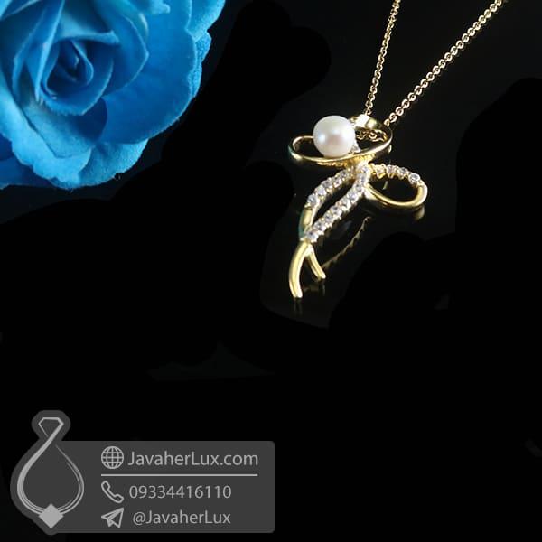 گردنبند نقره زنانه مروارید _ کد : 100784