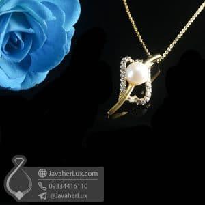 گردنبند نقره زنانه مروارید _ کد : 100786